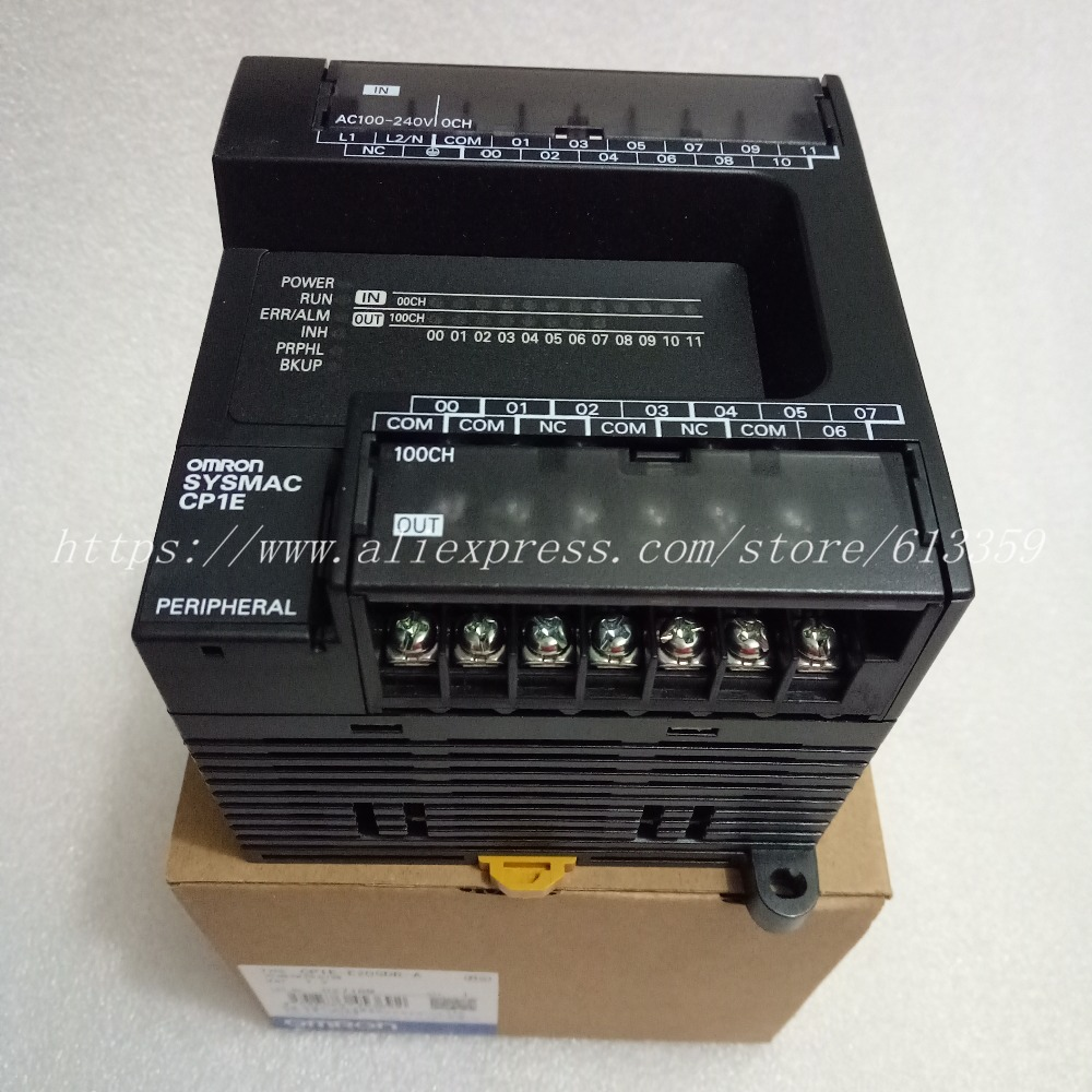 CP1E-E20SDR-A New Original Omron PLC CPU AC100-240V Input 12 Point Relay Output 8 Point  Without  Rs232