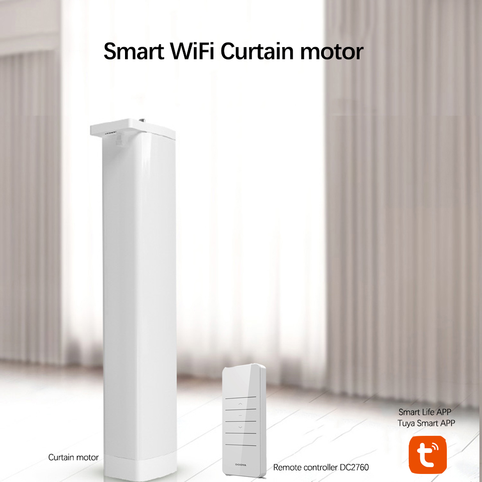 Wifi Smart Electric Curtain Motor+Dooya 433MHZ DC2700 Remote Controller Works With Amazon Alexa Google Home Smart Life/Tuya APP