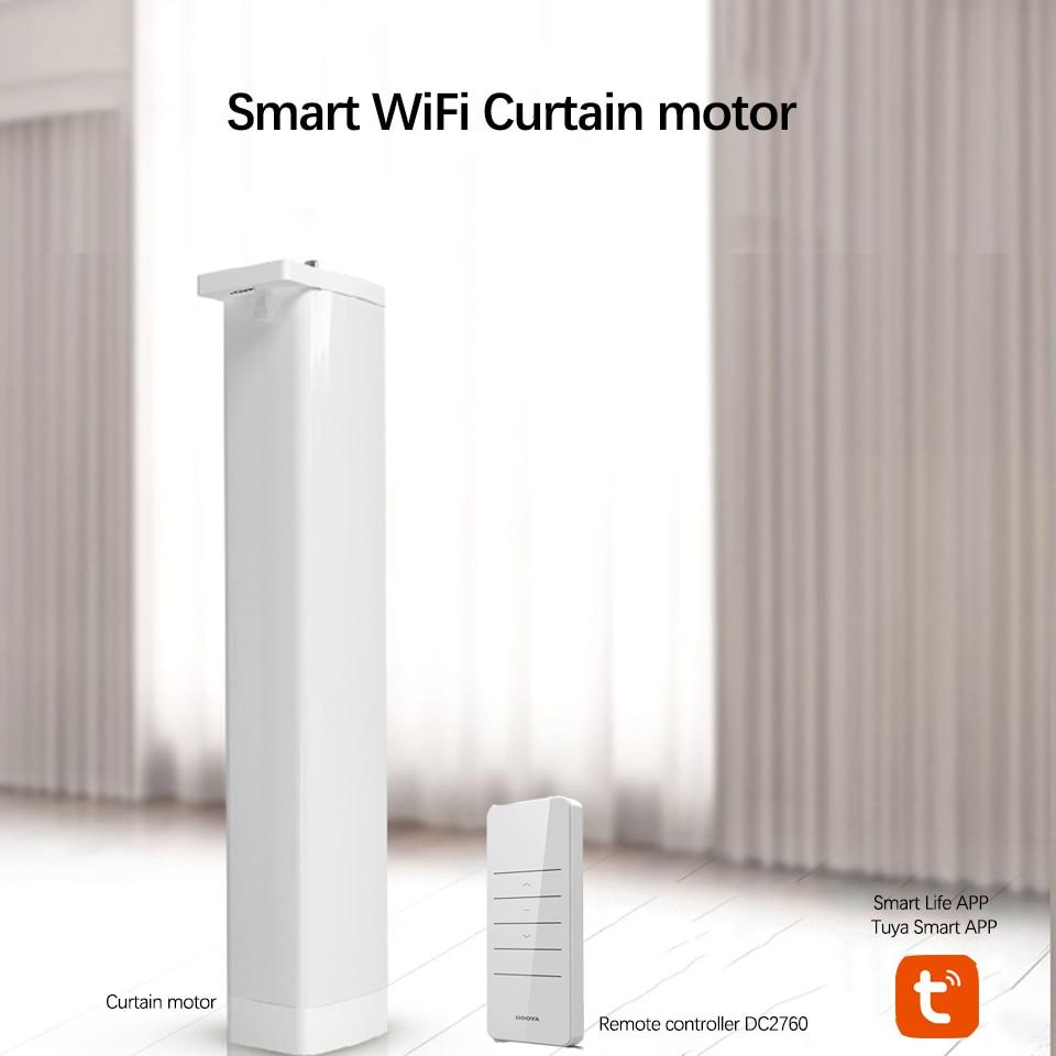Wifi Smart Electric Curtain Motor+Dooya 433MHZ DC2700 Remote Controller Works With Amazon Alexa Google Home Smart Life/Tuya APP