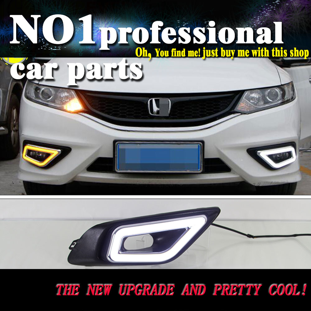car styling For HONDA JADE LED 2013 2014 2015 DRL led fog lamps daytime running light High brightness guide LED DRL for lexus rx gyl1 ggl15 agl10 450h awd 350 awd 2008 2013 car styling led fog lights high brightness fog lamps 1set