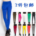Hot-selling  summer viscose ankle length trousers legging harem pants candy color thin pants free shipping