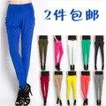 Quente venda verão viscose calças de comprimento no tornozelo legging harem pants doce cor calças finas frete grátis