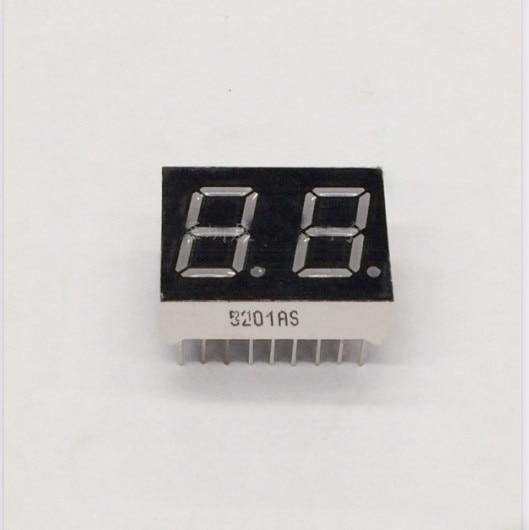 Free Ship 100pc Common cathode/Common anode 0.5inch digital tube 2 bit digital tube display best  RED Static digital tube 18pin
