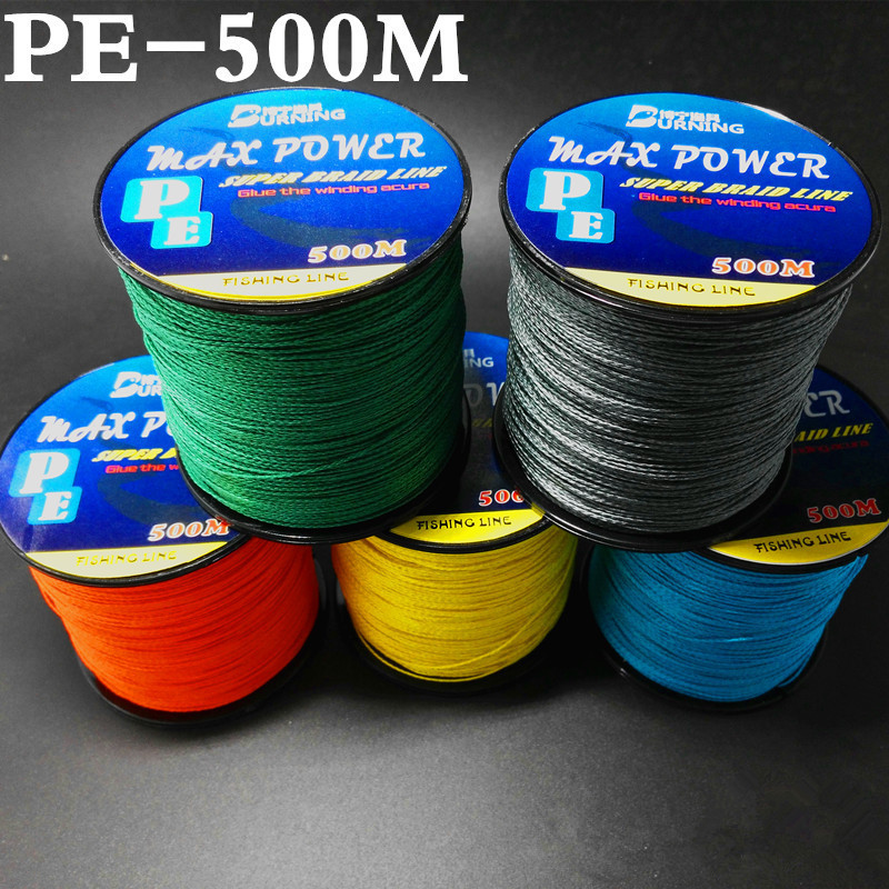 Braided Fishing Line Super Strong PE Fishing Line for Saltwater Surf Fishing 500m/547yd 12-80lb Handing Fishing Tackle