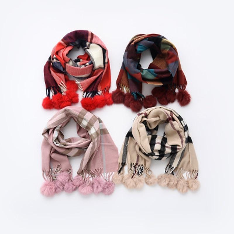 2016 Luxury Brand designer pure plaid Pashmina shawls cashmere tartan scarf for girls Celebrity winter warm infinity 170*32cm