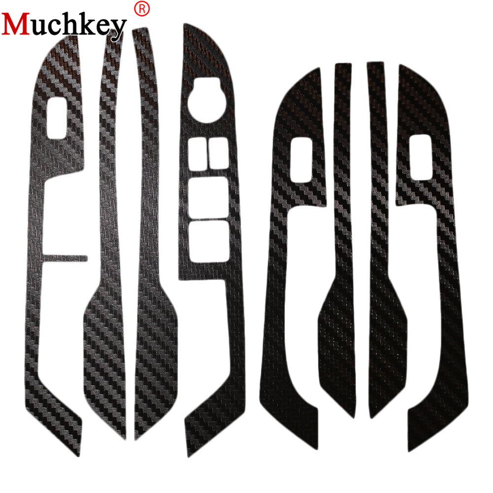 Car sticker carbon fiber sticker door panel sticker armrest sticker for KIA Rio k2 for nissan r35 gtr carbon fiber door mirror inner panel trinagle
