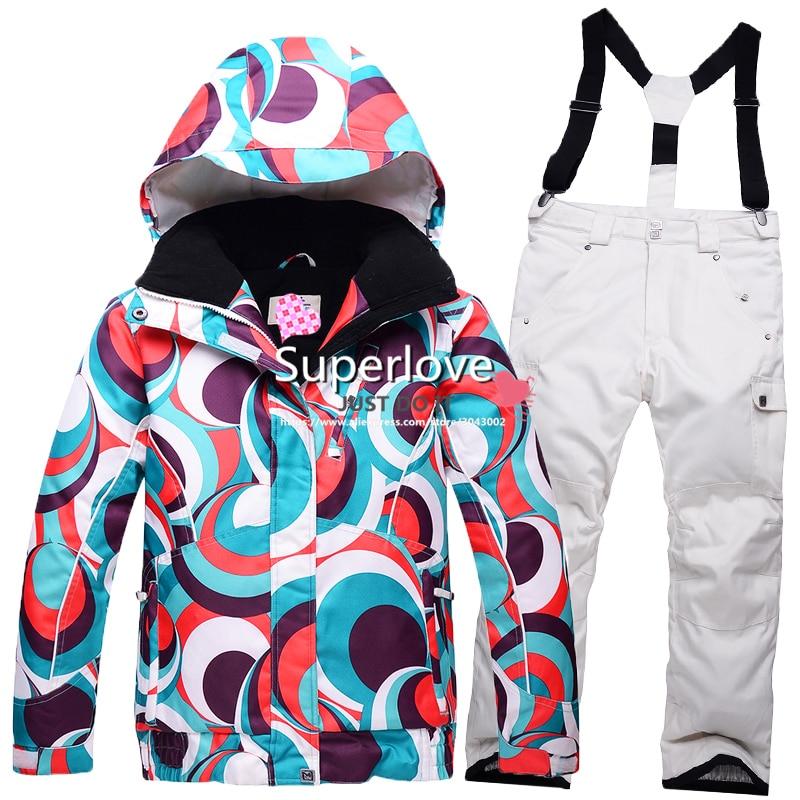 Prix pour Enfants/Enfants Épaississent Chaud Coloré de Snowboard En Plein Air Costumes Étanche Ski/Ski/Neige/Snowboard Veste/Pantalon filles/Garçons