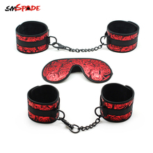 Smspade Bondage Adult Sex Toys Handcuffs Ankle Cuffs Blindfold Sex Restraints Ki
