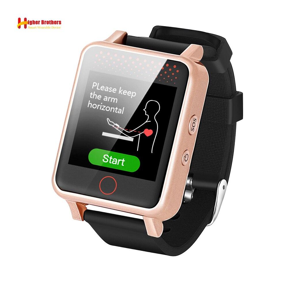 2018 Android IOS IP67 1.54 écran tactile GPS WIFI LBS battement de coeur/pression artérielle pour enfants ElderlyTracker localisateur montre intelligente V36