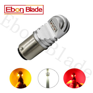 Image 2 - 2 stuks 30W 12 V 24 V Canbus 1157 BAY15D XBD Chips Wit Amber Rode Auto Gloeilamp p21/5 W LED LAMPEN CANBUS OBC Geen Fout Signaal