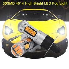 все цены на H3 Universal fog light H1 880 881 H8 H11 Car Fog bulbs DRL 12V 30SMD 4014 Auto Driving Led Bulbs онлайн