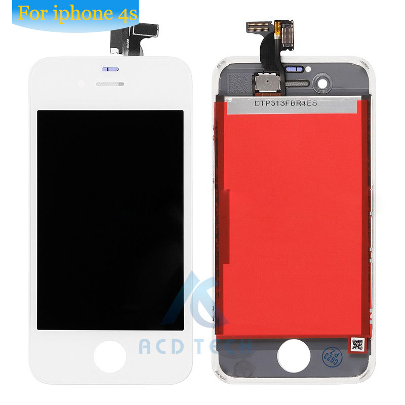 Grade AAA No Dead Pixel For iPhone 4s  LCD Display With Touch Screen Digitizer Assembly Black&White Free Shipping 5pcs lot grade aaa no dead pixel for iphone 6 plus lcd display with touch screen digitizer assembly black
