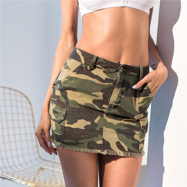 skirts Sexy camo