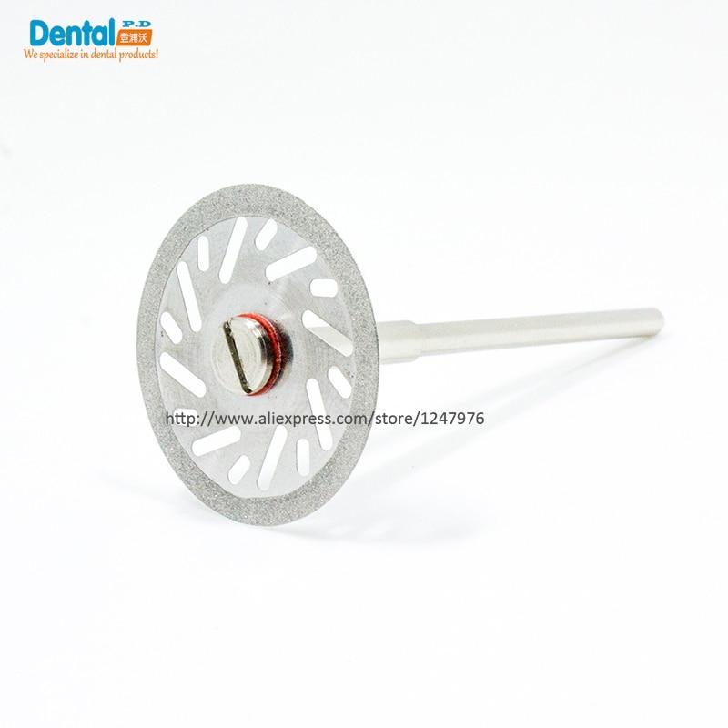 Купить с кэшбэком 5pcs Dental Lab Diamond Disc for Dental Cutting Plaster 22mm x 0.20mm Disc Wheel C06 jewelry buffing C06