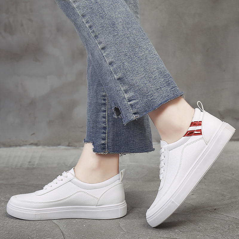 Spring/Autumn White Shoes Women 2018 New Flat Casual Women Skateboard Shoes 2