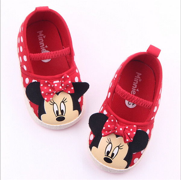 Mother & Kids ... Baby Shoes ... 32624631315 ... 3 ... New Cartoon Baby Shoes Infants Girls First Walkers Soft Bottom Toddlers Crib Shoes ...