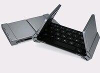 Portable Intelligent Three Folding Bluetooth Keyboard Foldable Universal Wireless Keypad For Ipad Mac Ios PC Tablet