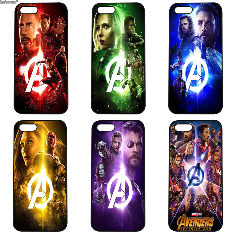 Hot Avengers Infinity War Phone Cases Hard PC Plastic Cover for iphone 8 7 6 6S Plus X 5S 5C 5 SE 4 4S iPod Touch 4 5 6 Shell