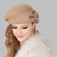 OZyc 100 Wool Vintage Warm Wool Winter Women Beret French Artist Beanie Hat Cap For Sweet