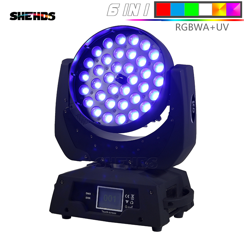 LED Washing Zoom Moving Head Light 36x12W/18W RGBW/+UV Touch Screen Suitable For DMX Stage Light Professional/KTV Effect LightLED Washing Zoom Moving Head Light 36x12W/18W RGBW/+UV Touch Screen Suitable For DMX Stage Light Professional/KTV Effect Light