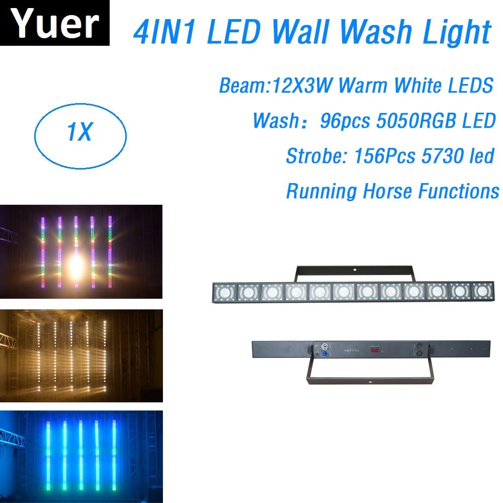 4IN1 LED Wall Wash Light 12X3W Beam Strobe Wash LED Bar DMX Line Bar Stage Light DMX Controller Led Light Dj With Running Horse