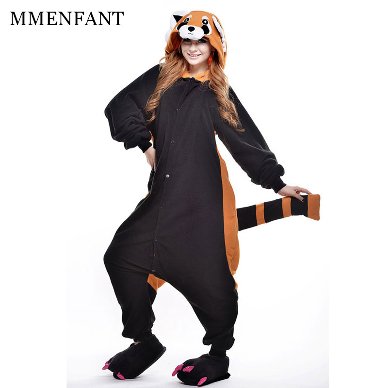 Animal de bande dessinée costume racoon Onesies Pyjamas couple vêtements Pyjamas Unisexe pyjamas, vêtements de nuit, partydress 150-190 cm enfants