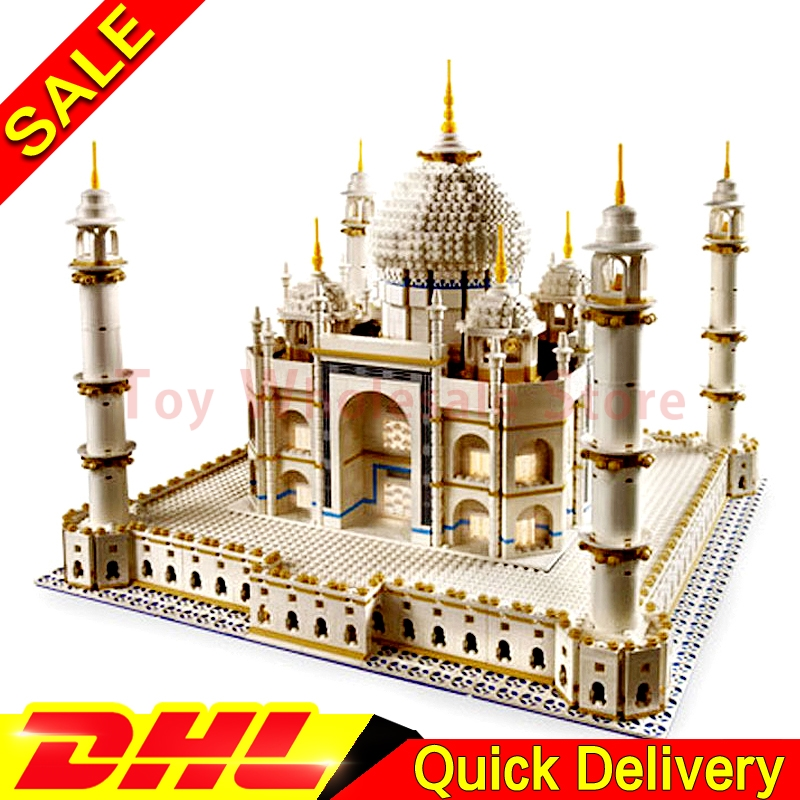LEPIN 17001 5952pcs City Street The Taj Mahal Model Building Kits Blocks Bricks Compatible Children lepins Toys Gift Clone 10189 lepin city town city square building blocks sets bricks kids model kids toys for children marvel compatible legoe