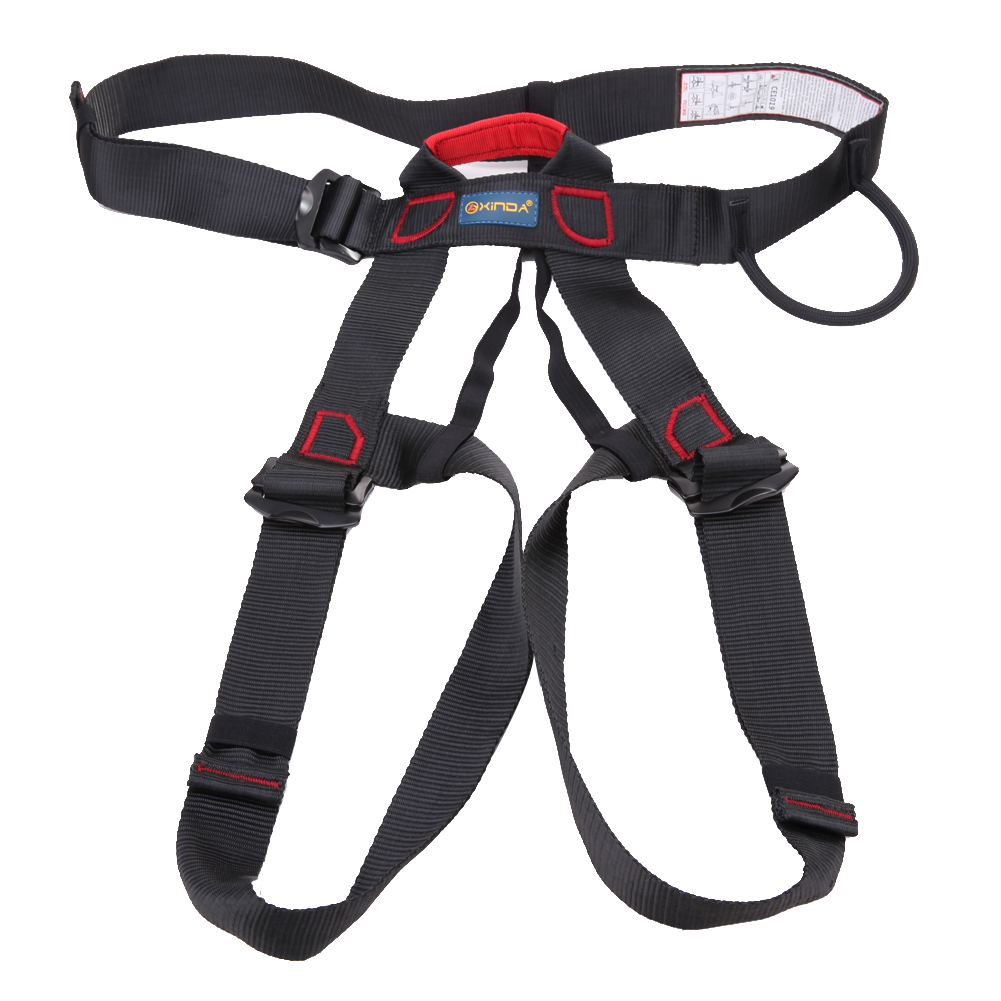 Professional Outdoor Rock Climbing Harness Downhill Rappel Mountaineering Climbing Rescue Safety Belt Body Protect Equipment multifunctional professional handle pulley roller gear outdoor rock climbing tyrolean traverse crossing weight carriage fit