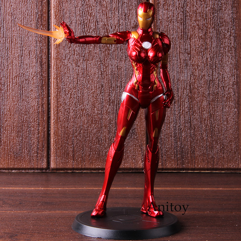 Action Figure Iron Man Stark Industries Iron Lady Pepper Potts PVC Collectible Model Toy 1