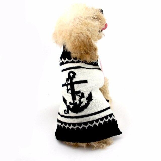 Polyester Mode Navy Stil doggie kleidung haustier hund pullover für ...