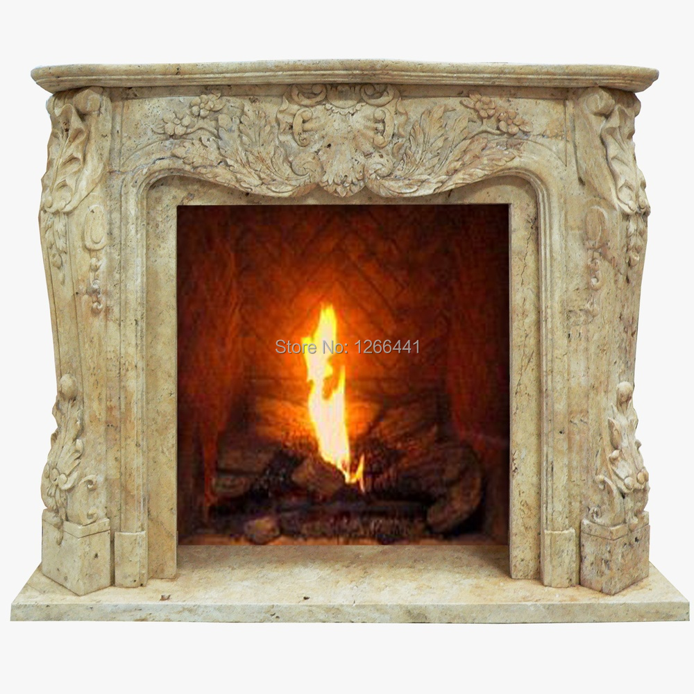 natural stone fireplace mantel frame european style carving custom madechina mainland