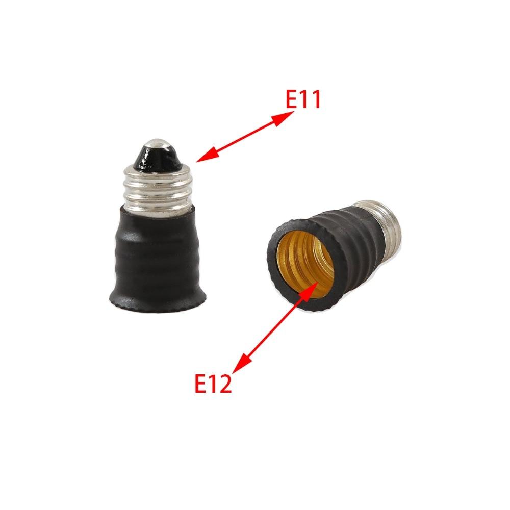 E11 To E12 Candelabra Light Socket Adapter E11 To 12 Lamp Holder Converter, CE Rohs