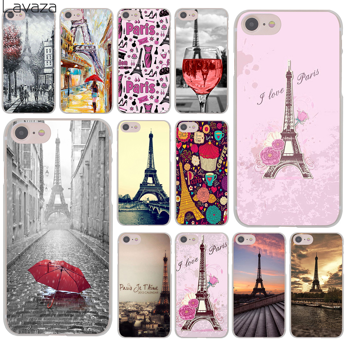 Lavaza The Eiffel Tower paris love pink Hard Cover Case