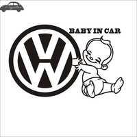 VW auto Bambino in Servizio di Auto Sticker Car Decal Poster Da Parete in Vinile Della Decorazione Murale Sticker