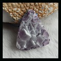 Natural Stone Faceted Triangle Drusy Amethyst Cabochon,47*40*19mm,40.6g semiprecious stone cabochon fine jewelry