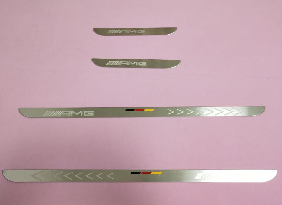 door sill strip For Mercedes Benz AMG W210 W219 W211 accessories sills guard scuff plate covers thresholds