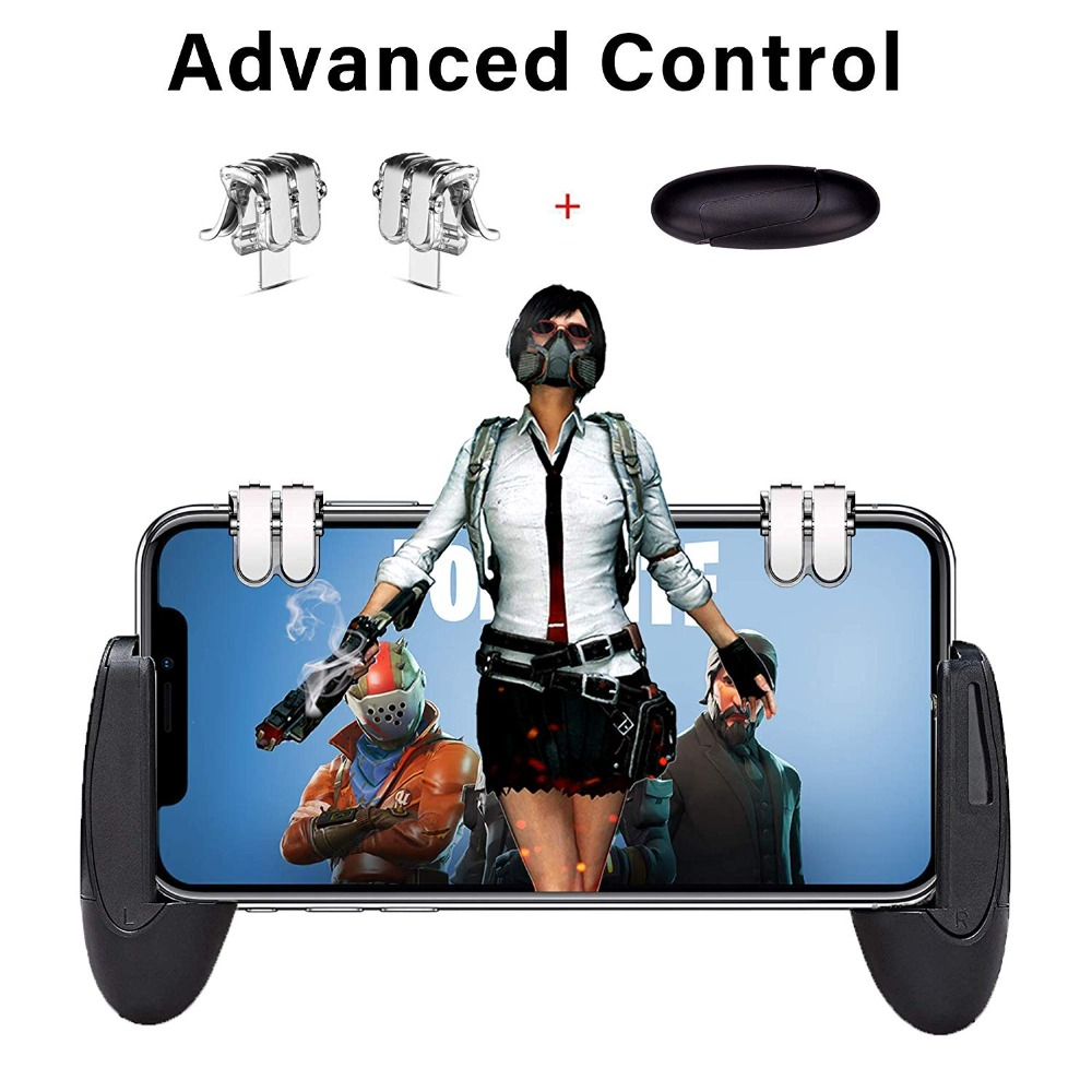 Metal Design Mobile Phone Game Fire Button Smart Phone Mobile Gaming Trigger L1R1 Shooter For Knives Out/ Rules Of Survival PUBG