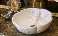 Round Bathroom Ceramic Counter Top Wash Basin Sink Cloakroom Porcelain Vanity Vessel bowl jyx018