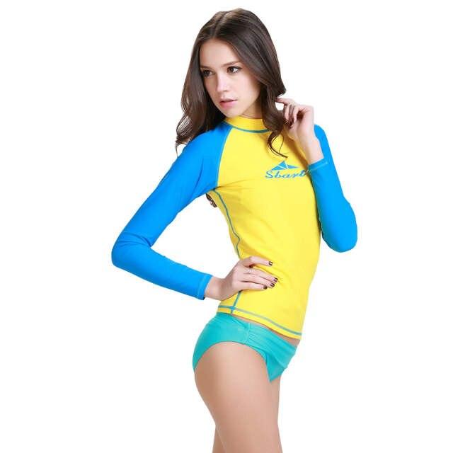 c2a529cbad59a Online Shop SBART women s long sleeve swimming shirt rash guard dive skins  women wetsuit free diving camouflage swim wear