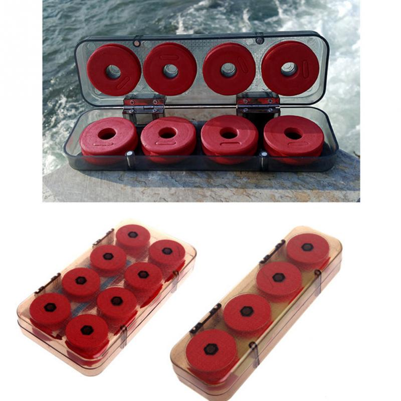 8/16Pcs Durable Red Foam Winding Board Fishing Line Wire Shaft Bobbin Spools Tackle Box Gift #94