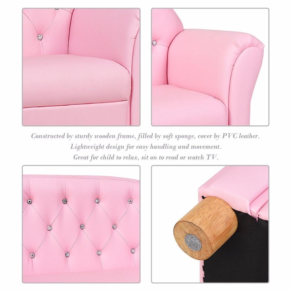 Giantex Kids Sofa Princess Armrest Chair Lounge Couch Loveseat Children  Toddler Gift Modern Childrenu0027s Furniture Hw58811