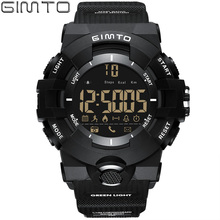 GIMTO Digital Sport Smart Watch Men Bluetooth Shock Stopwatch Military Waterproof Pedometer Smartwatch electronic wrist watches