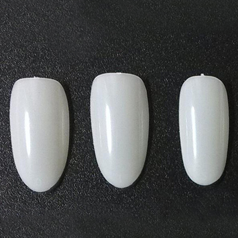 1 Set Fake Nail Art Tips Stiletto Oval Shape Full Cover Manicure ...