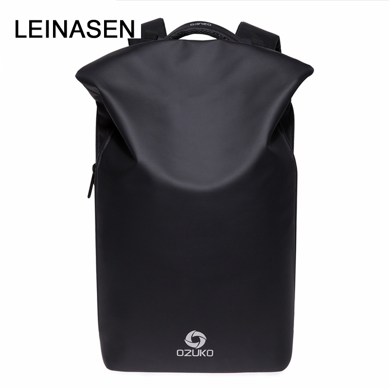 2018 New PU Leather Tidy USB Charge Teenage Backpack Large Capacity Anti Theft Backpack Laptop Bag Male School Travel Men 30