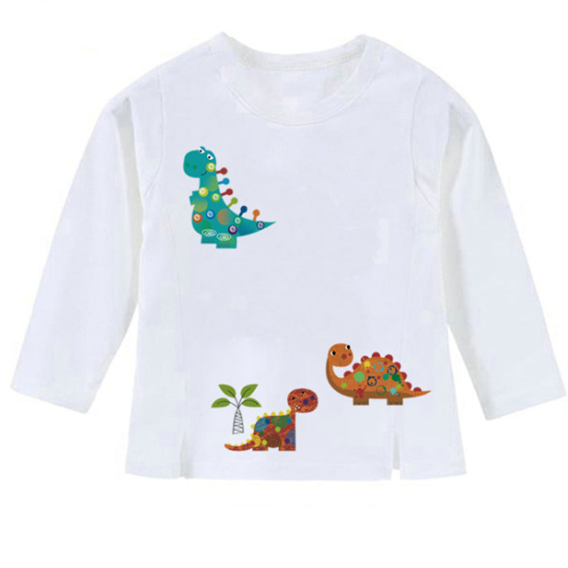 New Arrival Cute Dinosaur Iron on Transfer Patches Washable DIY Kids Decoration Clothes Stickers Girl Boy Bag Curtain Patches in Patches from Home Garden