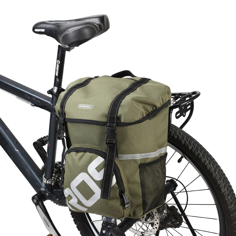 20L Bike Bicycle Cycling Rear Seat Double Pannier Bag Saddle Rack Pack Storage