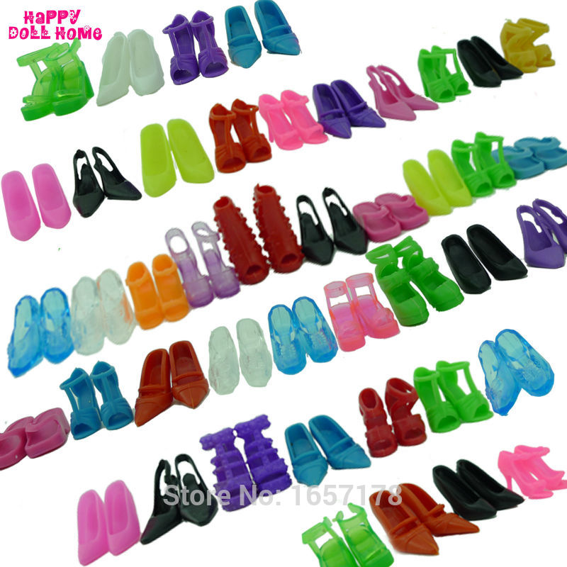 12 Pairs Mixed Fashion Colorful High Heels Sandals Accessories For Barbie Doll Shoes Clothes Dress Prop Girl Baby Best Gift Toys цена