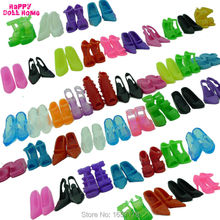 12 Pairs Mixed Fashion Colorful High Heels Sandals Accessories For Barbie Doll Shoes Clothes Dress Prop Girl Baby Toys