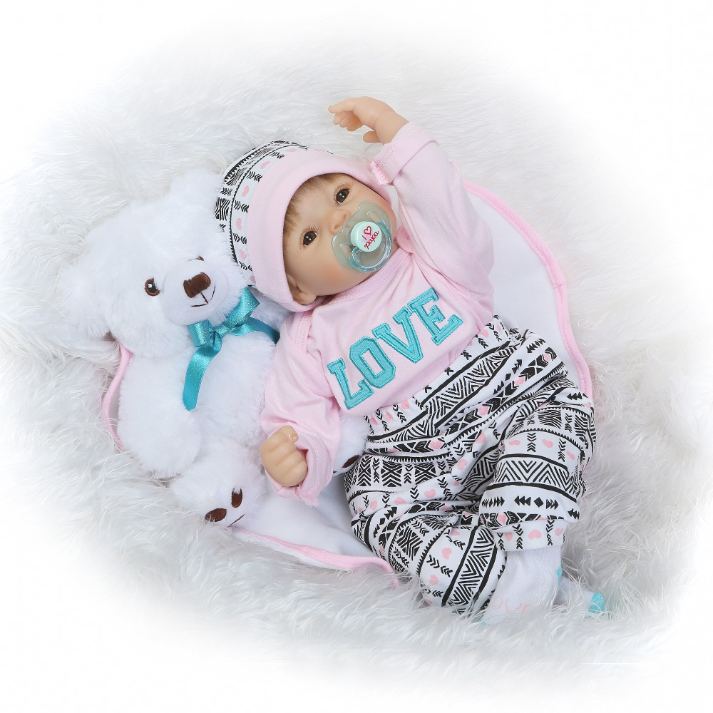 NPKCOLLECTION  reborn baby doll popular hot selling dolls lifelike soft silicone real gentle touch toys gifts for children short curl hair lifelike reborn toddler dolls with 20inch baby doll clothes hot welcome lifelike baby dolls for children as gift