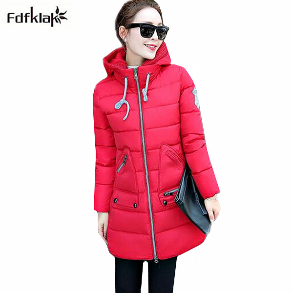 Plus size women's winter jacket long thick cotton coats hooded slim warm coat for women snow wear winter parka women 6XL 7XL korean winter jacket women large size long coat female snow wear cotton parkas hooded thick warm coats and jackets 7 colors
